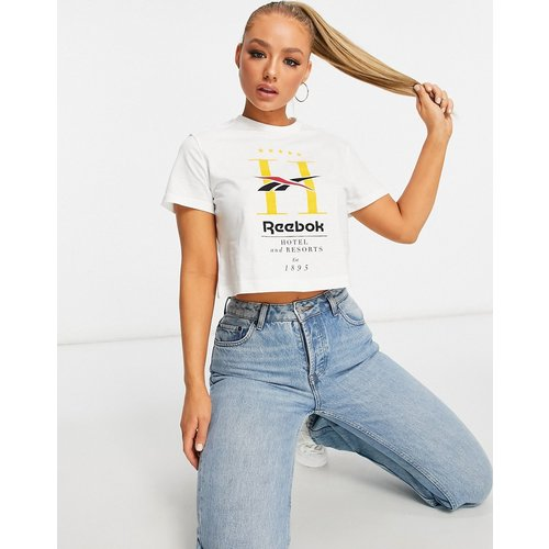 T-shirt crop top à imprimé Hotel - Reebok - Modalova