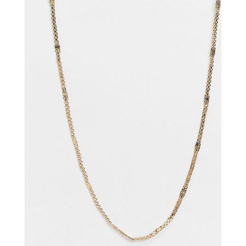 Collier épais à double chaîne avec motif soleil en plaqué or - Regal Rose - Modalova