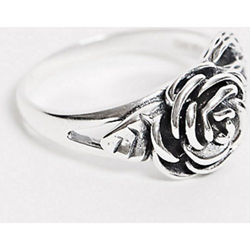 Flourishing- Bague motif rose en argent massif - Regal Rose - Modalova
