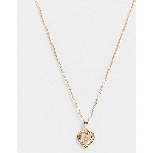 My Darling - Collier en argent massif plaqué or à pendentif cœur - Regal Rose - Modalova