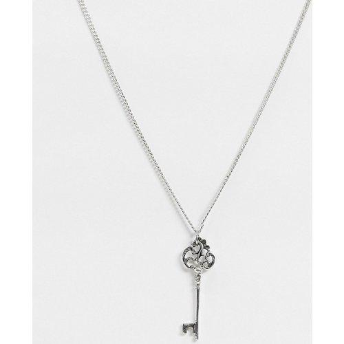 Skeleton - Collier en plaqué argent avec pendentif clé - Regal Rose - Modalova
