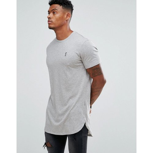 T-shirt long à logo - chiné - Religion - Modalova