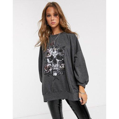 Virtuous - Sweat-shirt oversize à imprimé couronne de fleurs - Religion - Modalova