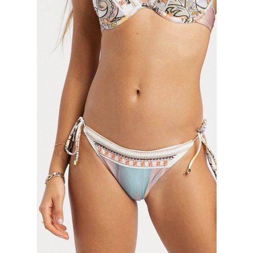 Bas de bikini orné à motif cachemire - Crème - River Island - Modalova