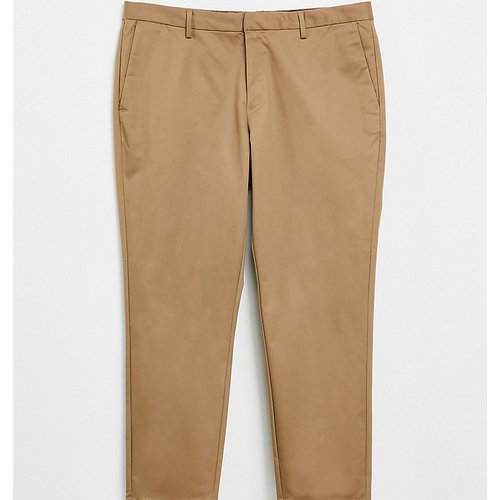 Big & Tall - Pantalon chino ajusté - Fauve - River Island - Modalova