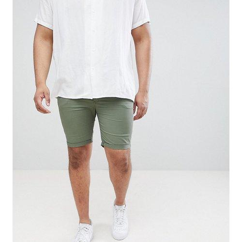 Big & Tall - Short en jean ajusté - Kaki - River Island - Modalova