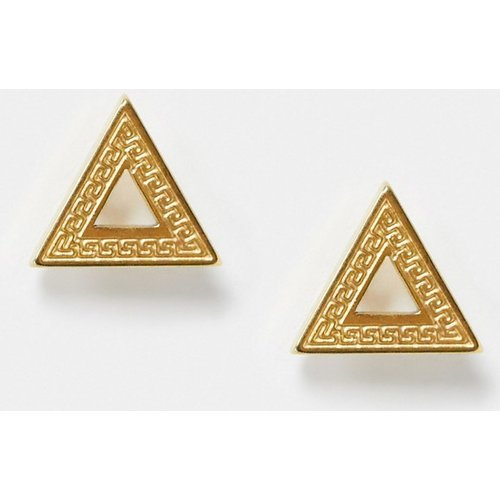 Boucles d'oreilles motif triangle - Or - River Island - Modalova