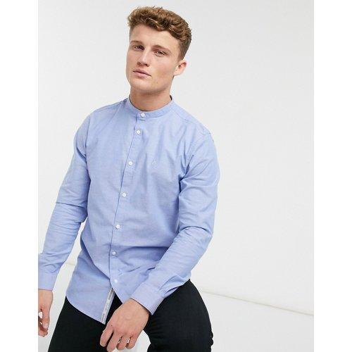 Chemise Oxford ajustée à manches longues avec col grand-père - clair - River Island - Modalova