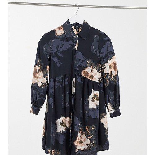 Robe chemise babydoll coupe courte à fleurs - River Island Petite - Modalova