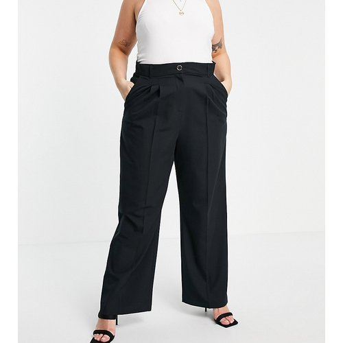 Pantalon ample habillé plissé - River Island Plus - Modalova