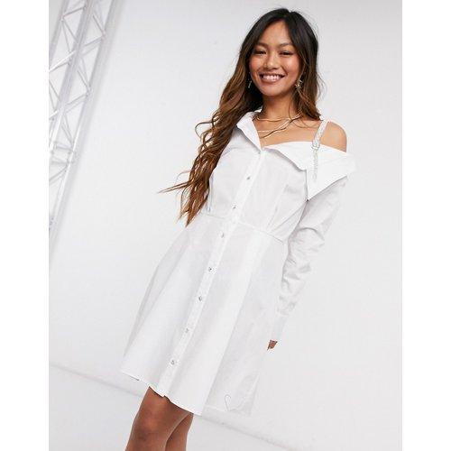 Robe chemise courte asymétrique avec strass - River Island - Modalova