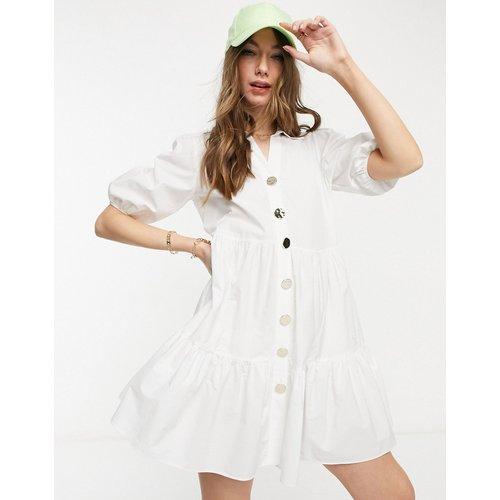 Robe chemise courte style babydoll à manches bouffantes - River Island - Modalova