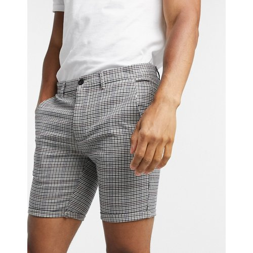 Short chino ajusté à carreaux - River Island - Modalova