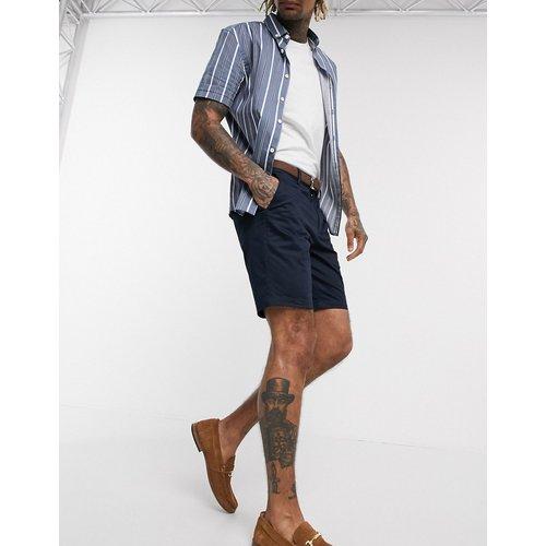 Short chino slim à ceinture - Bleu marine - River Island - Modalova