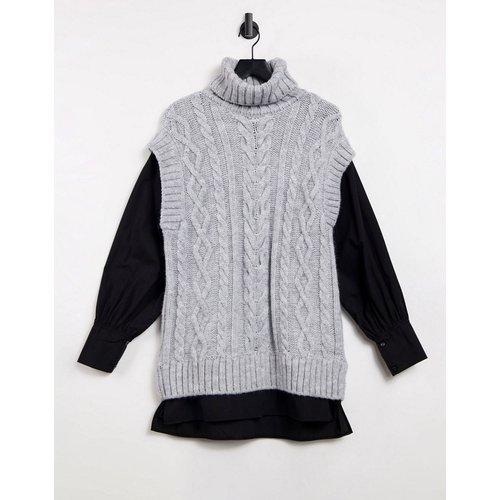 Tunique chemise hybride en maille torsadée - River Island - Modalova