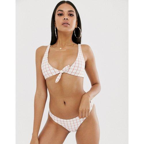 Grid - Haut de bikini deux positions à carreaux - Orange - RVCA - Modalova