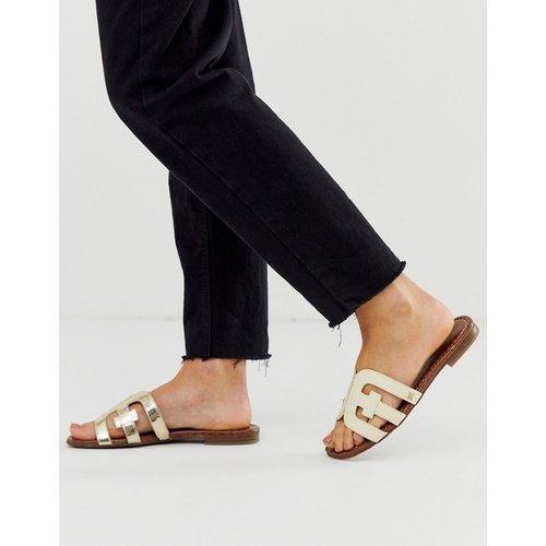 Sandales plates style mules à brides croisées - Doré - Sam Edelman - Modalova