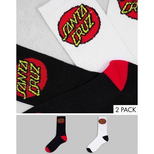 Lot de 2paires de chaussettes classiques à pois - Noir et blanc - Santa Cruz - Modalova