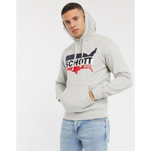 Sweat-shirt à capuche avec logo - Schott - Modalova
