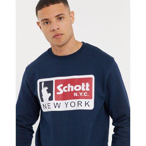 Sweat-shirt à logo - Bleu marine - Schott - Modalova