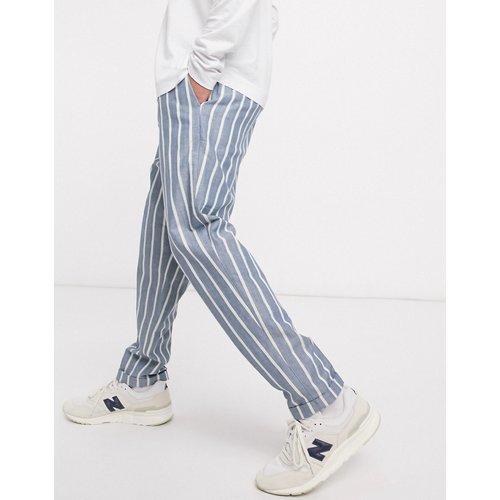 Pantalon chino à rayures en coton biologique - Scotch & Soda - Modalova