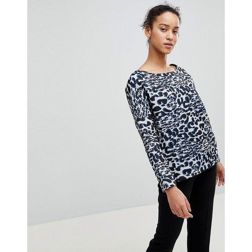 Top habillé à manches longues et imprimé léopard - See U Soon - Modalova
