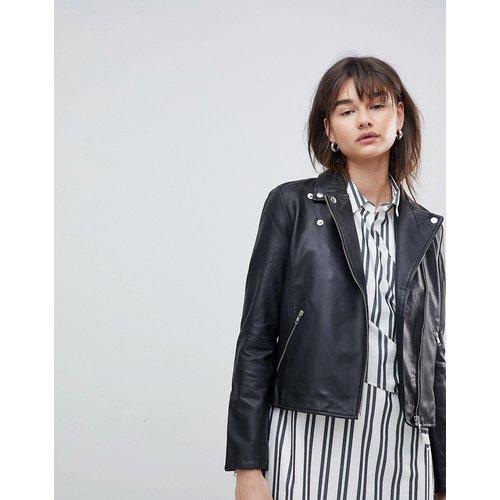 Selected Femme - Veste en cuir-Noir - Selected - Modalova