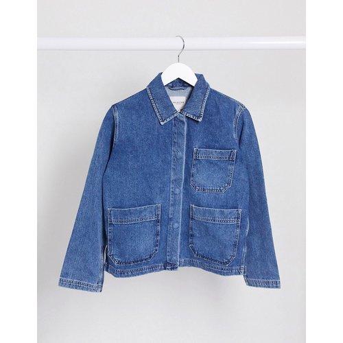 Veste en jean style worker - Selected - Modalova