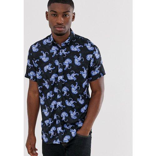 Chemise à imprimé tigre et manches courtes - Selected Homme - Modalova