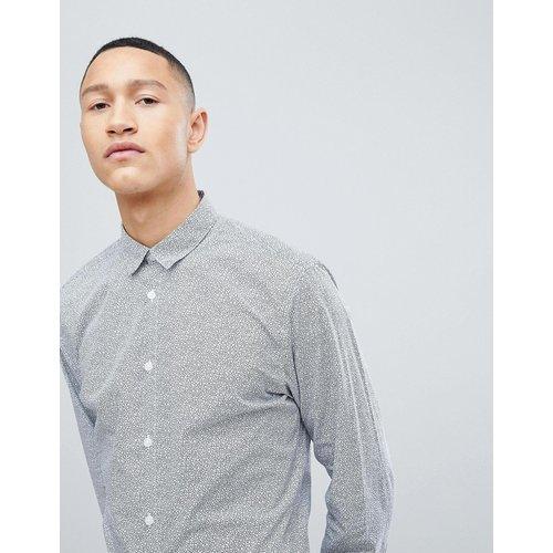 Chemise ajustée habillée avec petites fleurs - Selected Homme - Modalova