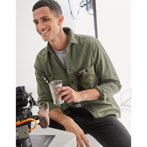Chemise de travail oversize à poches - Kaki - Selected Homme - Modalova