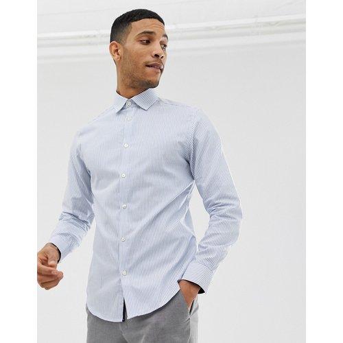 Chemise habillée slim à rayures et repassage facile - clair - Selected Homme - Modalova