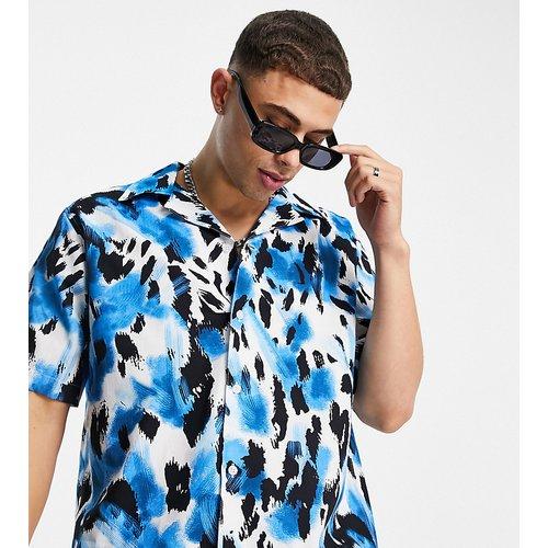 Chemise oversize avec col à revers et imprimé léopard - - Exclusivité ASOS - Selected Homme - Modalova