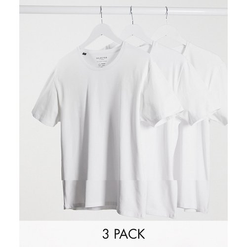 Lot de 3 t-shirts ras de cou - Selected Homme - Modalova