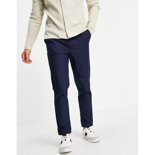Pantalon en coton biologique mélangé avec ourlets élastiques - Bleu - Selected Homme - Modalova