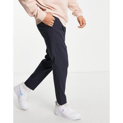 Pantalon habillé slim fuselé avec taille élastique - Bleu - Selected Homme - Modalova