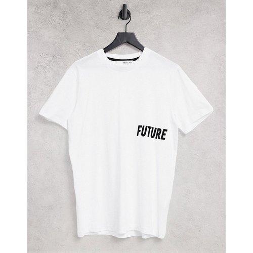 T-shirt à imprimé Future - Blanc - Selected Homme - Modalova
