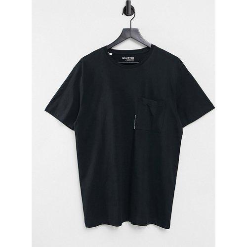 T-shirt décontracté avec imprimé poche - Selected Homme - Modalova