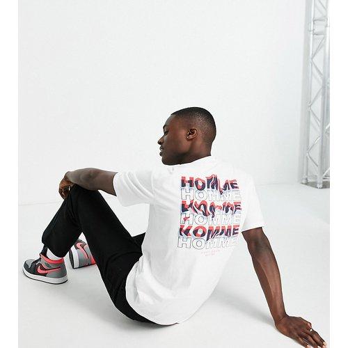 T-shirt oversize avec imprimé au dos - - Exclusivité ASOS - Selected Homme - Modalova