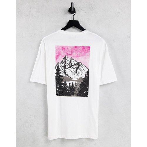 T-shirt oversize avec imprimé montagne au dos - Selected Homme - Modalova