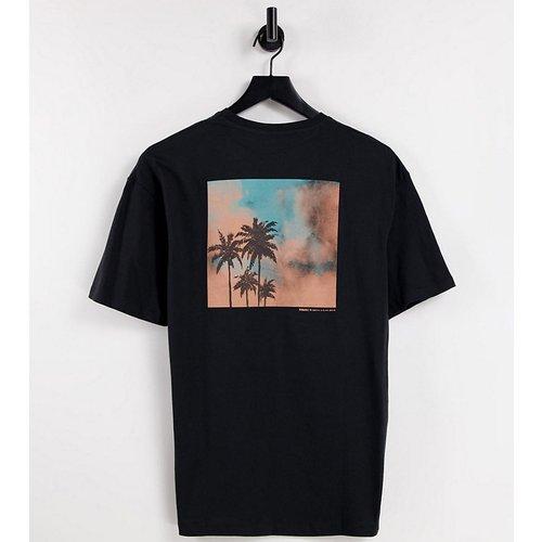 T-shirt oversize avec imprimé palmier au dos - - Exclusivité ASOS - Selected Homme - Modalova