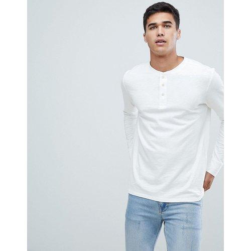 T-shirt surteint à manches longues avec encolure boutonnée - Selected Homme - Modalova