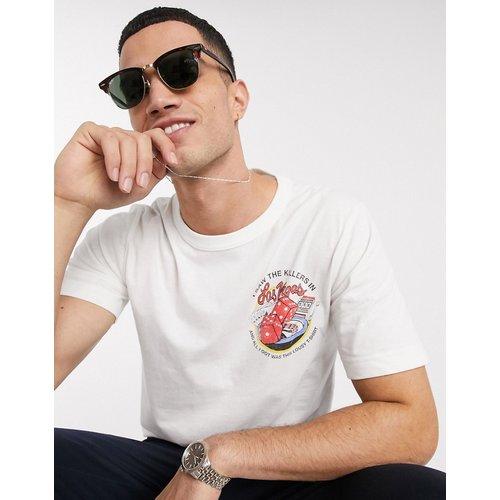 The Killers - T-shirt en coton biologique brossé avec logo - Selected Homme - Modalova