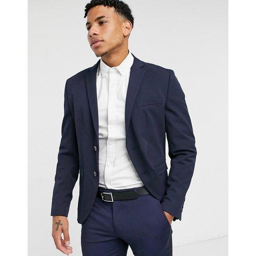 Veste de costume ajustée en jersey - Bleu marine - Selected Homme - Modalova