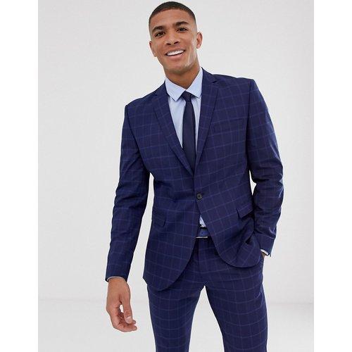 Veste de costume slim à grands carreaux - Bleu marine - Selected Homme - Modalova
