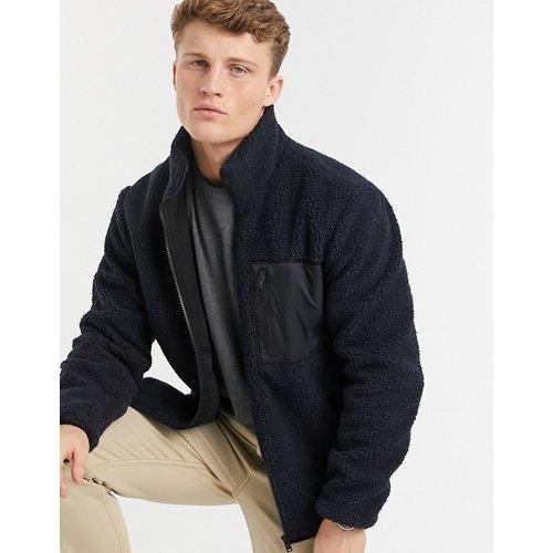 Veste en polaire avec poche en nylon - Selected Homme - Modalova