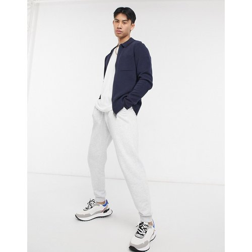 Veste zippée en maille - Bleu - Selected Homme - Modalova