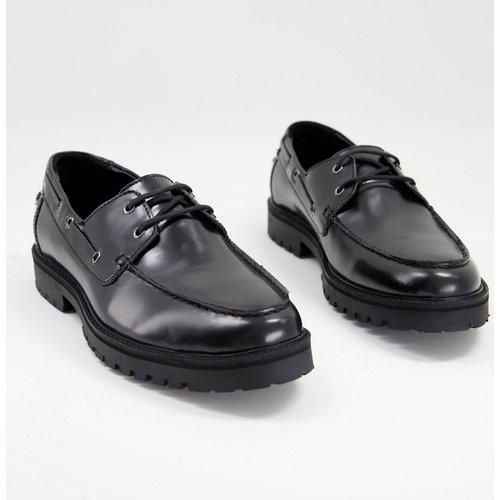 Chaussures bateau chunky en cuir - Silver Street - Modalova