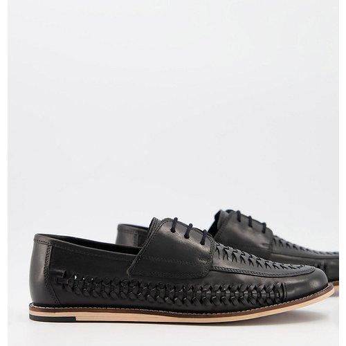 Chaussures pointure large tissées en cuir à lacets - Silver Street - Modalova