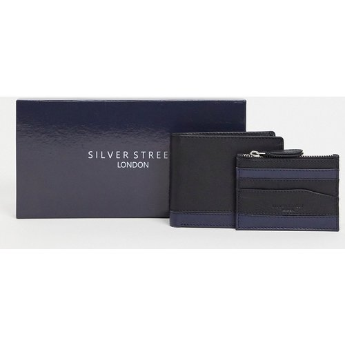 Ensemble portefeuille et porte-cartes en cuir - Silver Street - Modalova